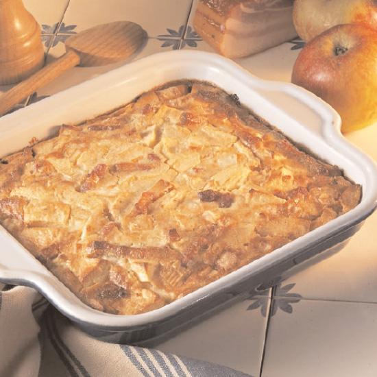 Clafoutis aux pommes et Maroilles