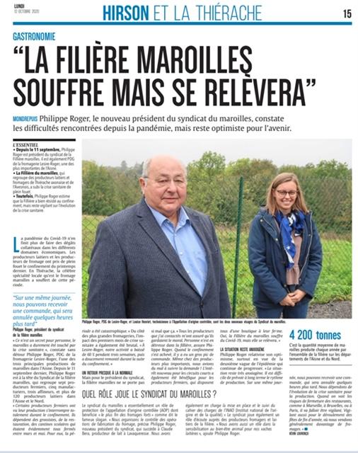En Thiérache et en Avesnois, la filière Maroilles a un genou à terre mais tient bon